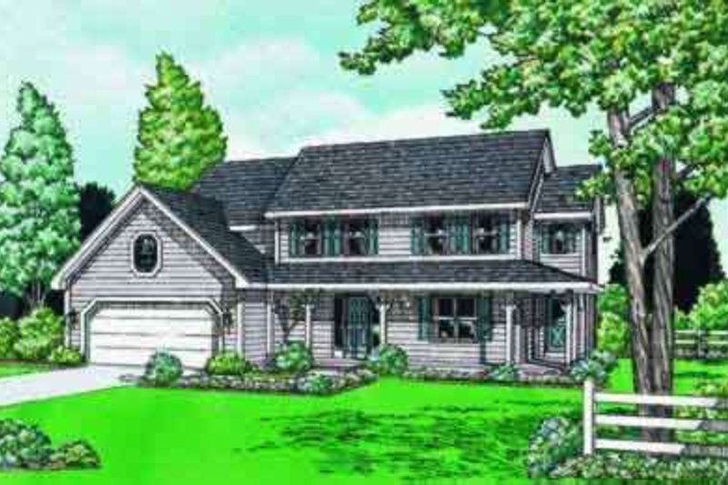 Traditional Exterior - Front Elevation Plan #20-942 - Houseplans.com
