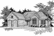 Traditional Style House Plan - 3 Beds 2.5 Baths 1760 Sq/Ft Plan #70-191 Exterior - Front Elevation