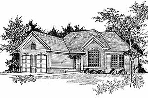 Traditional Exterior - Front Elevation Plan #70-191