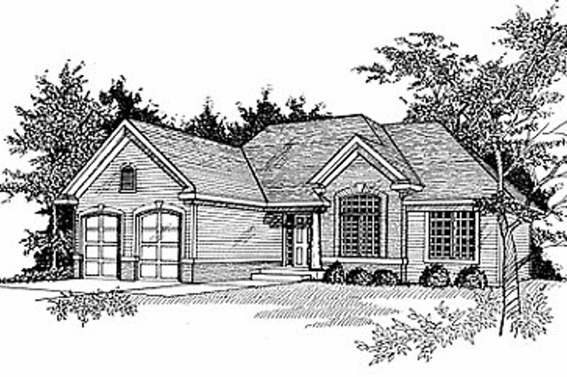 Traditional Exterior - Front Elevation Plan #70-191 - Houseplans.com