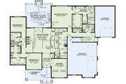 European Style House Plan - 3 Beds 3.5 Baths 2340 Sq/Ft Plan #17-2496 Floor Plan - Main Floor Plan