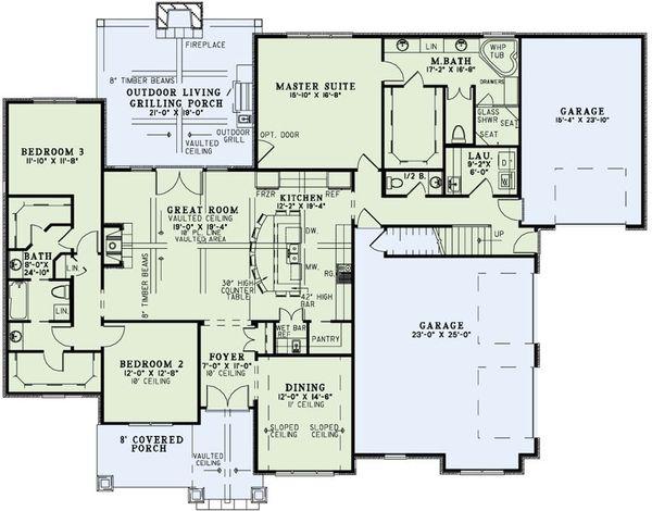 Dream House Plan - European Floor Plan - Main Floor Plan #17-2496