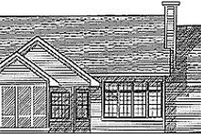 Dream House Plan - Traditional Exterior - Rear Elevation Plan #70-254
