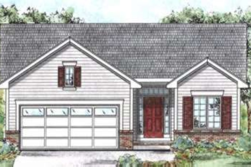 Traditional Exterior - Front Elevation Plan #20-1714