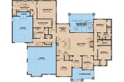 European Style House Plan - 4 Beds 4.5 Baths 3190 Sq/Ft Plan #923-17 Floor Plan - Main Floor Plan