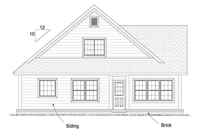 Cottage Exterior - Rear Elevation Plan #513-2088 - Houseplans.com
