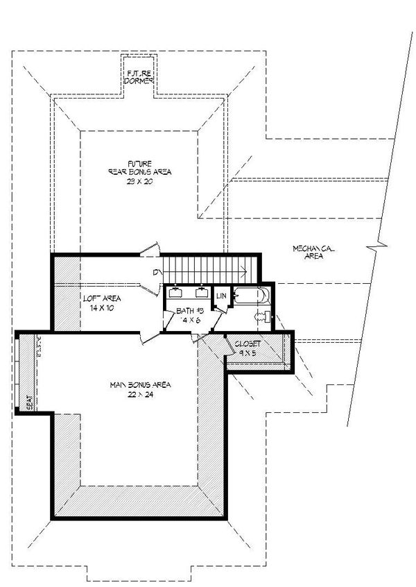 Country Floor Plan - Upper Floor Plan Plan #932-313