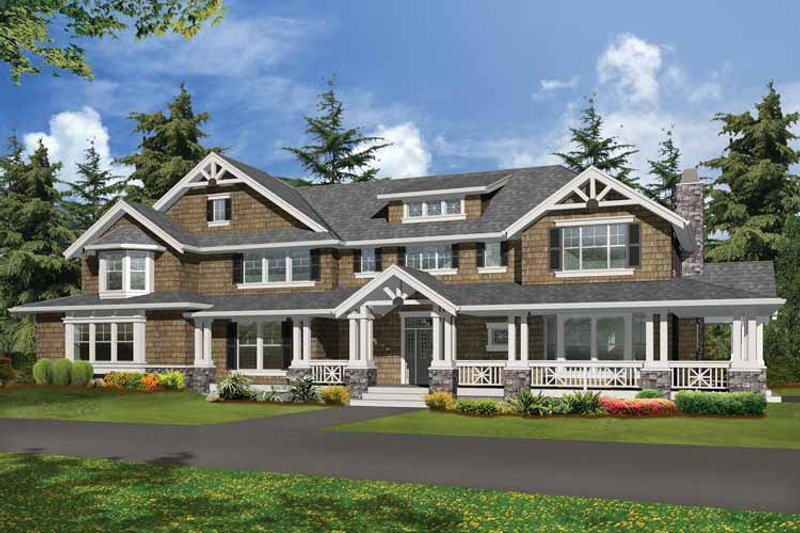 Dream House Plan - Craftsman Exterior - Front Elevation Plan #132-249