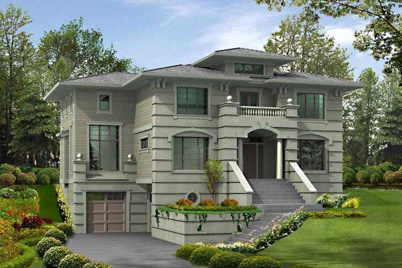 Home Plan - European Exterior - Front Elevation Plan #132-453