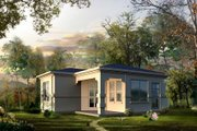 Adobe / Southwestern Style House Plan - 0 Beds 1 Baths 504 Sq/Ft Plan #1-102 Exterior - Front Elevation