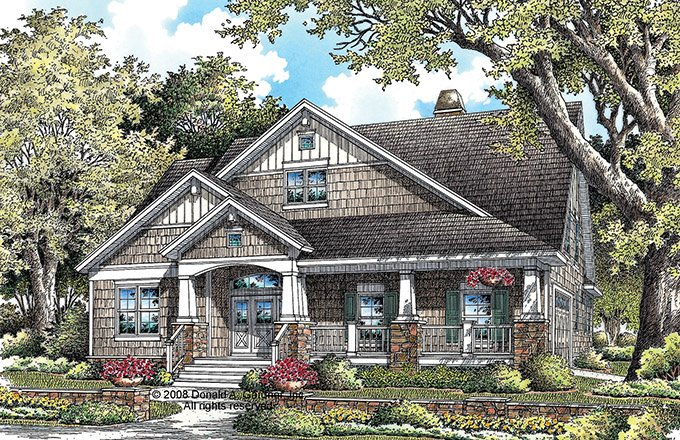 Craftsman Style House Plan - 4 Beds 3 Baths 2328 Sq/Ft Plan #929-918 Exterior - Front Elevation
