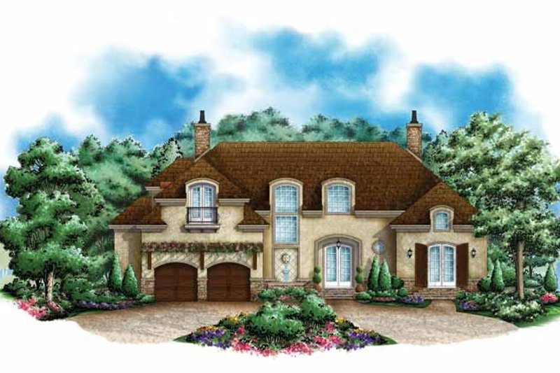 Mediterranean Exterior - Front Elevation Plan #1017-133