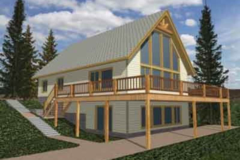 Modern Exterior - Front Elevation Plan #117-267 - Houseplans.com