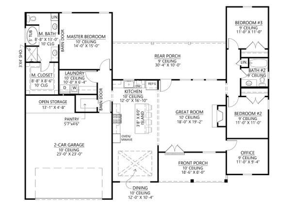 Home Plan - Farmhouse Floor Plan - Main Floor Plan #1074-43