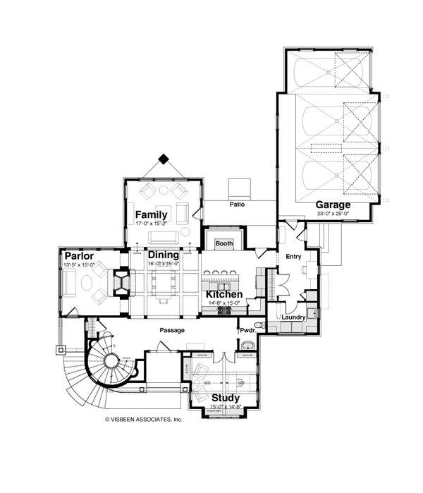 Dream House Plan - Craftsman Floor Plan - Main Floor Plan #928-244