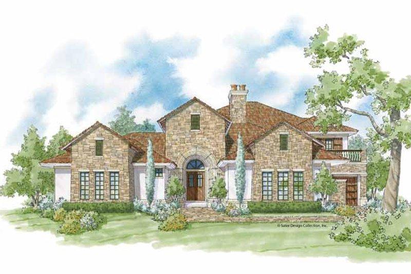 Architectural House Design - Mediterranean Exterior - Front Elevation Plan #930-423
