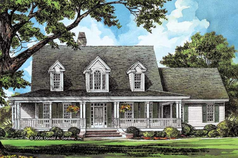 Country Exterior - Front Elevation Plan #929-791 - Houseplans.com