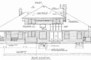 Traditional Style House Plan - 4 Beds 2.5 Baths 2603 Sq/Ft Plan #47-470 Exterior - Rear Elevation