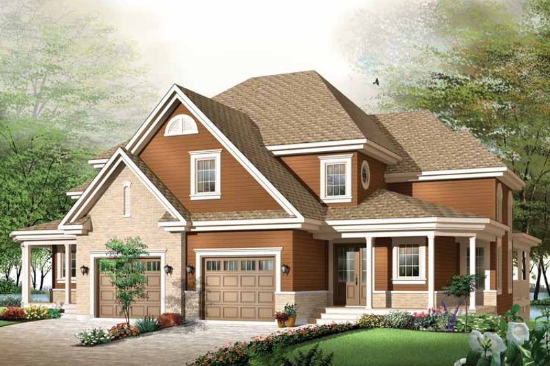 Architectural House Design - Country Exterior - Front Elevation Plan #23-2355