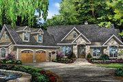 European Style House Plan - 4 Beds 3 Baths 2352 Sq/Ft Plan #929-1003