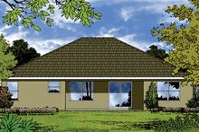 Architectural House Design - Ranch Exterior - Rear Elevation Plan #417-839