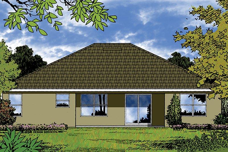 Ranch Exterior - Rear Elevation Plan #417-839 - Houseplans.com