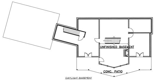 Traditional Floor Plan - Lower Floor Plan #117-579