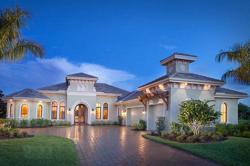 Dream House Plan - Mediterranean Exterior - Front Elevation Plan #1017-165