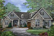 Craftsman Style House Plan - 3 Beds 2 Baths 1986 Sq/Ft Plan #929-981 Exterior - Front Elevation