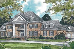 Dream House Plan - Classical Exterior - Front Elevation Plan #453-203