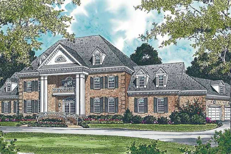 Classical Exterior - Front Elevation Plan #453-203