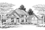 Modern Style House Plan - 4 Beds 3.5 Baths 3050 Sq/Ft Plan #70-479 Exterior - Front Elevation