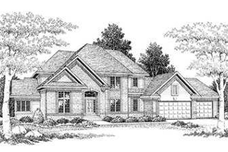 Modern Exterior - Front Elevation Plan #70-479 - Houseplans.com