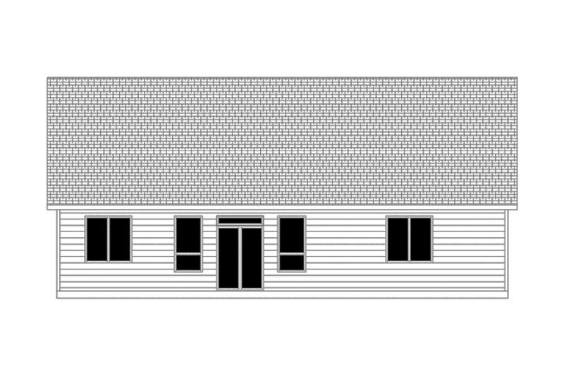 Country Exterior - Rear Elevation Plan #943-39 - Houseplans.com