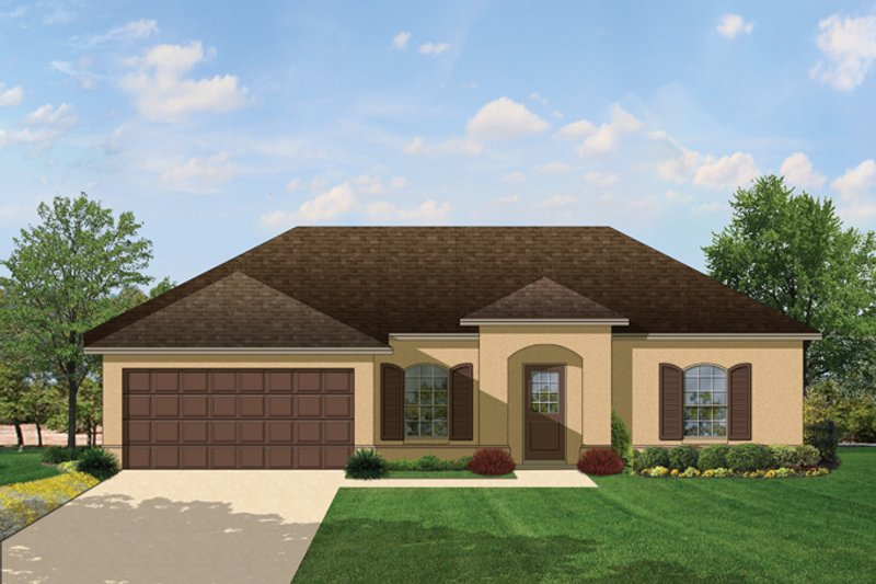 Mediterranean Exterior - Front Elevation Plan #1058-32 - Houseplans.com