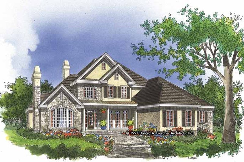 Country Exterior - Front Elevation Plan #929-271