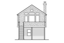 Home Plan - Traditional Exterior - Rear Elevation Plan #48-313