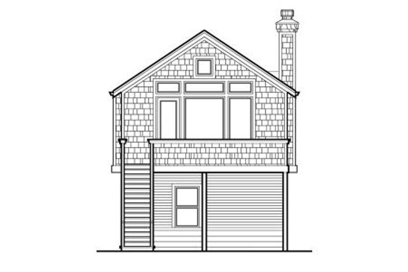 Traditional Exterior - Rear Elevation Plan #48-313 - Houseplans.com