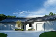 Contemporary Style House Plan - 4 Beds 4.5 Baths 4833 Sq/Ft Plan #928-255 Exterior - Front Elevation