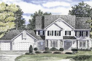 Home Plan - Country Exterior - Front Elevation Plan #316-151