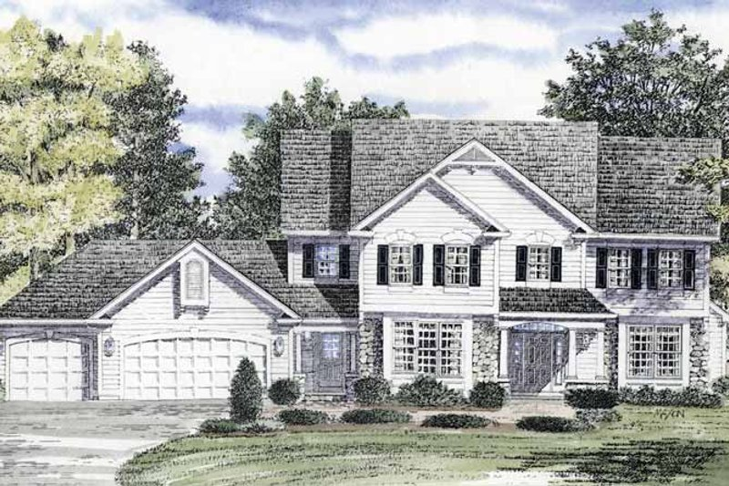 Country Exterior - Front Elevation Plan #316-151