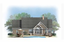 Craftsman Exterior - Rear Elevation Plan #929-875