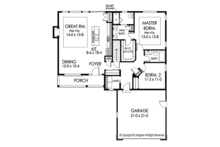 Ranch Floor Plan - Main Floor Plan Plan #1010-180