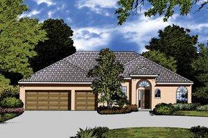 Architectural House Design - Mediterranean Exterior - Front Elevation Plan #1015-22