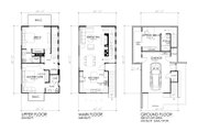 Modern Style House Plan - 3 Beds 3 Baths 1505 Sq/Ft Plan #484-3 Floor Plan - Other Floor