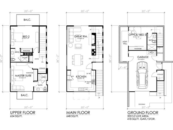 Modern Floor Plan - Other Floor Plan #484-3