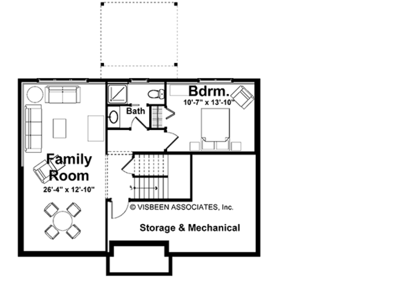 Country Floor Plan - Lower Floor Plan #928-158