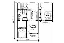 Traditional Floor Plan - Main Floor Plan Plan #20-2177