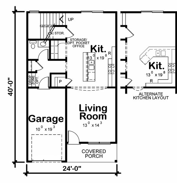 Traditional Floor Plan - Main Floor Plan Plan #20-2177