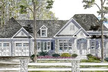Ranch Exterior - Front Elevation Plan #316-288
